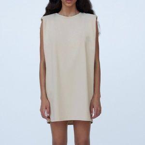 Zara dress with shoulder pads